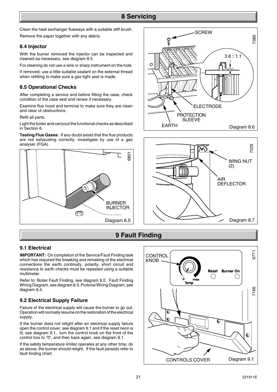 8 Servicing 9 Fault Finding Glow Worm Micron 40ff User Manual Pictorial Wiring Diagram Page 21 28