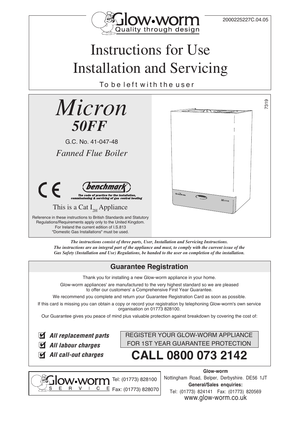 Glow-worm Micron 50FF User Manual | 28 pages
