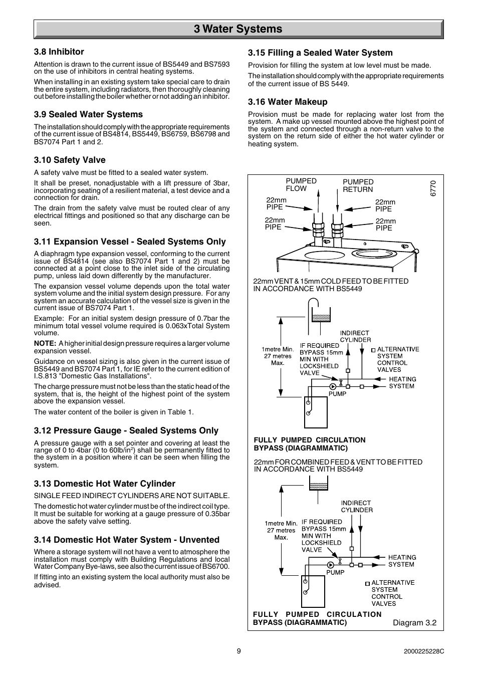 3 water systems | Glow-worm Micron 60FF User Manual | Page 9 / 28