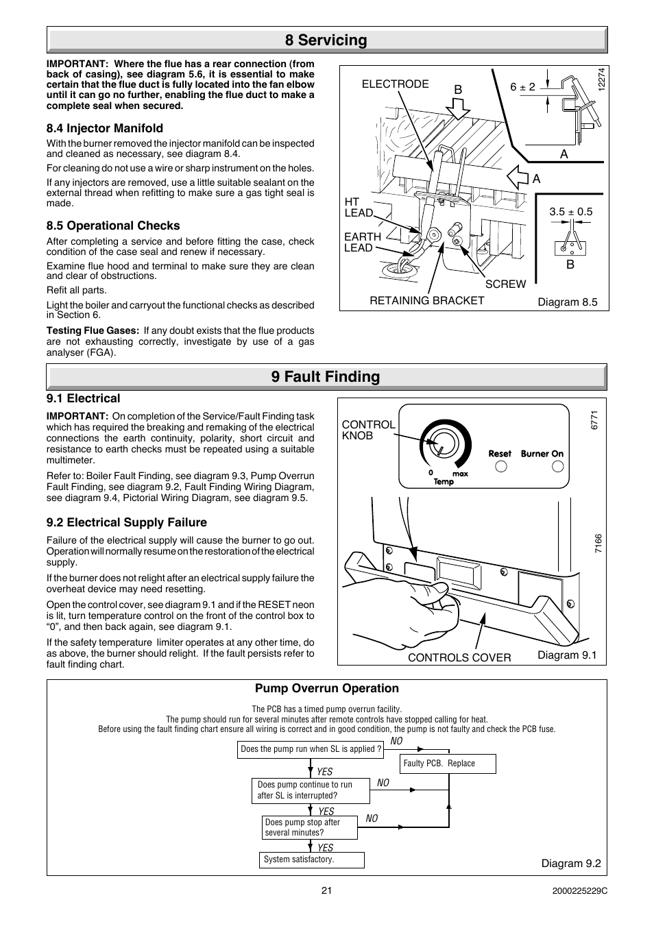 8 Servicing 9 Fault Finding Glow Worm Micron 70ff User Manual Pictorial Wiring Diagram Page 21 28