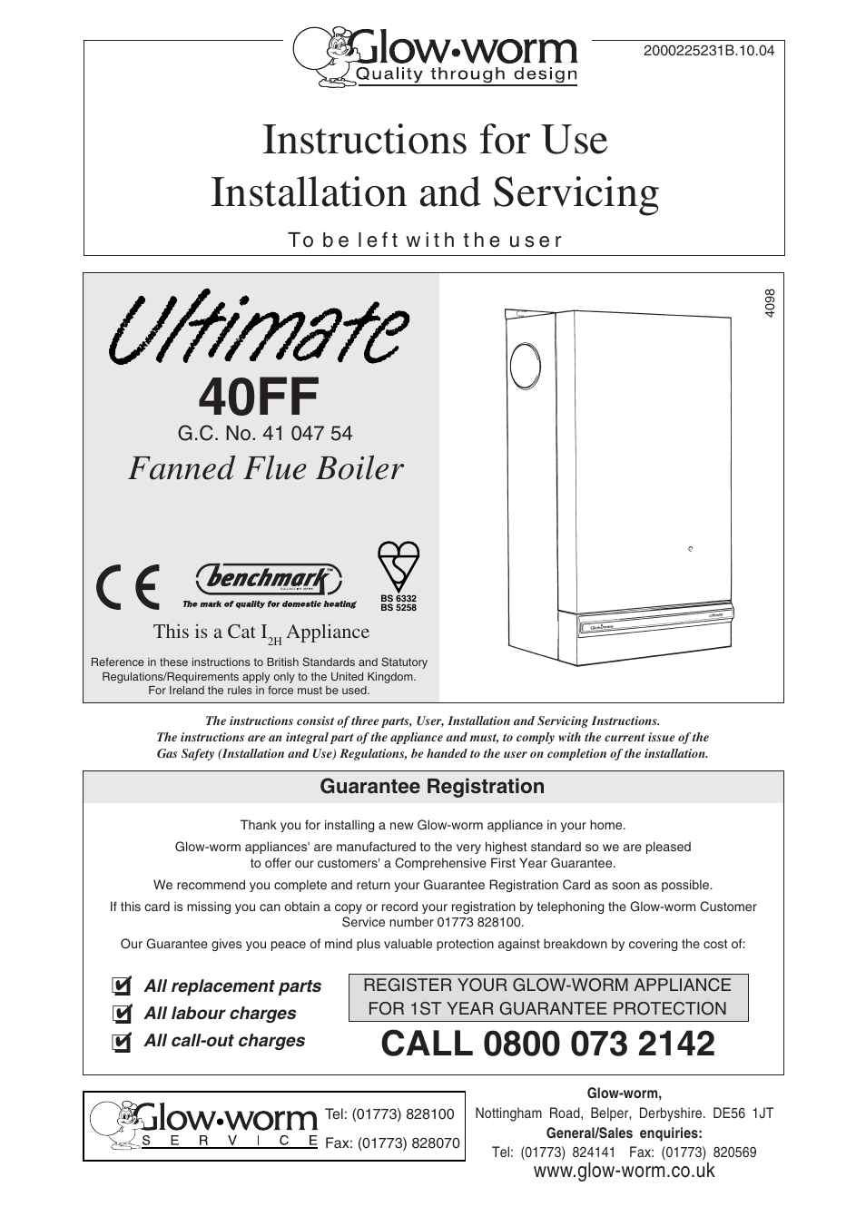 Glow-worm Ultimate 40FF User Manual | 40 pages