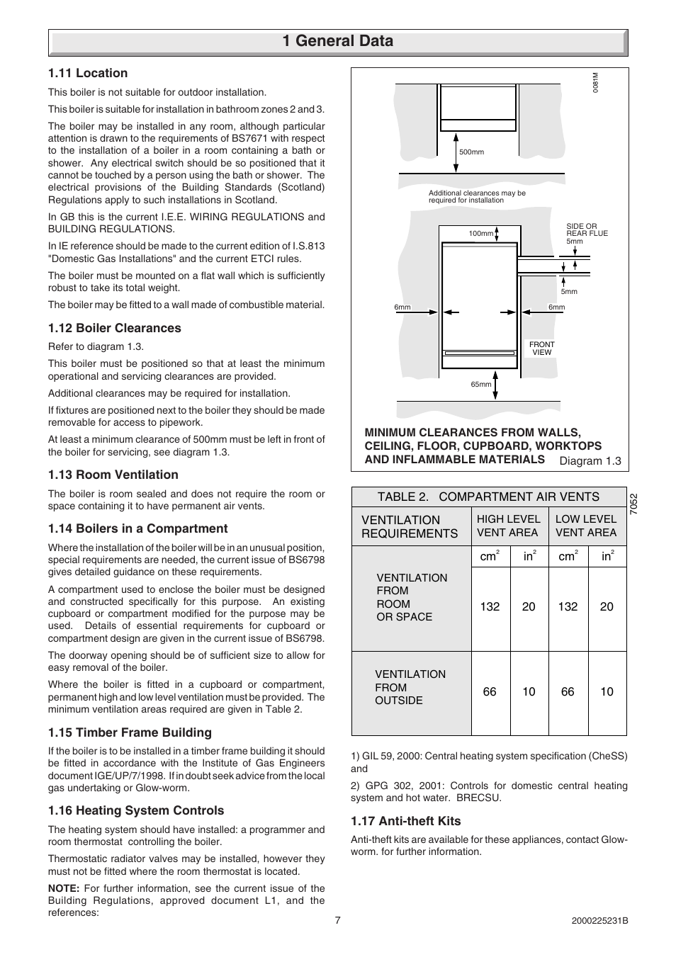 1 General Data Glow Worm Ultimate 40ff User Manual Page 7 40 Hot Water Heating System Diagram In Addition Wiring
