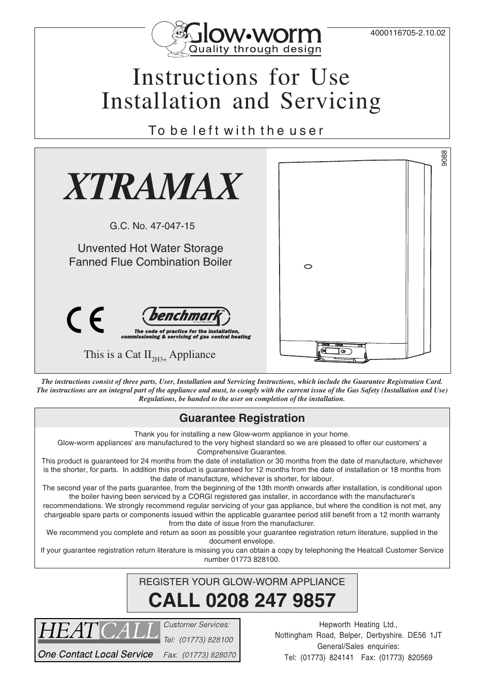 Glow-worm Xtramax User Manual | 44 pages