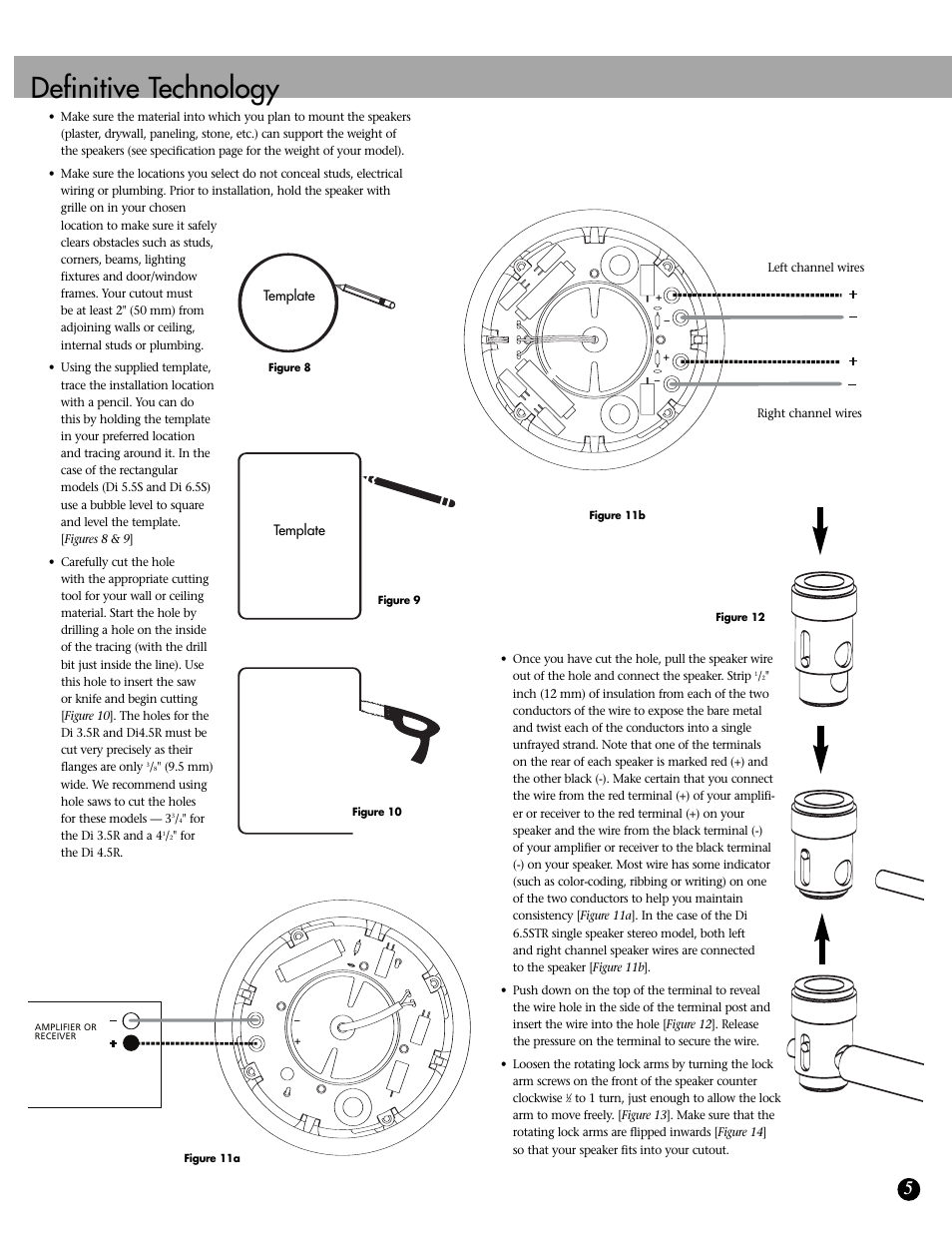 Definitive technology | Definitive Technology DI SERIES 3.5R User Manual |  Page 5 / 8