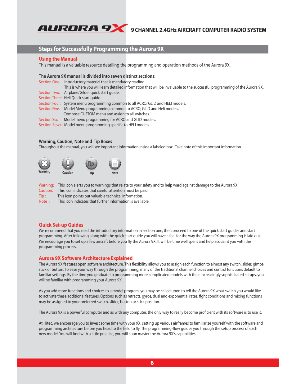 steps for successfully programming the aurora 9x using this manual rh manualsdir com Immigration Practice Manual Nakamichi Mini Speaker Manual
