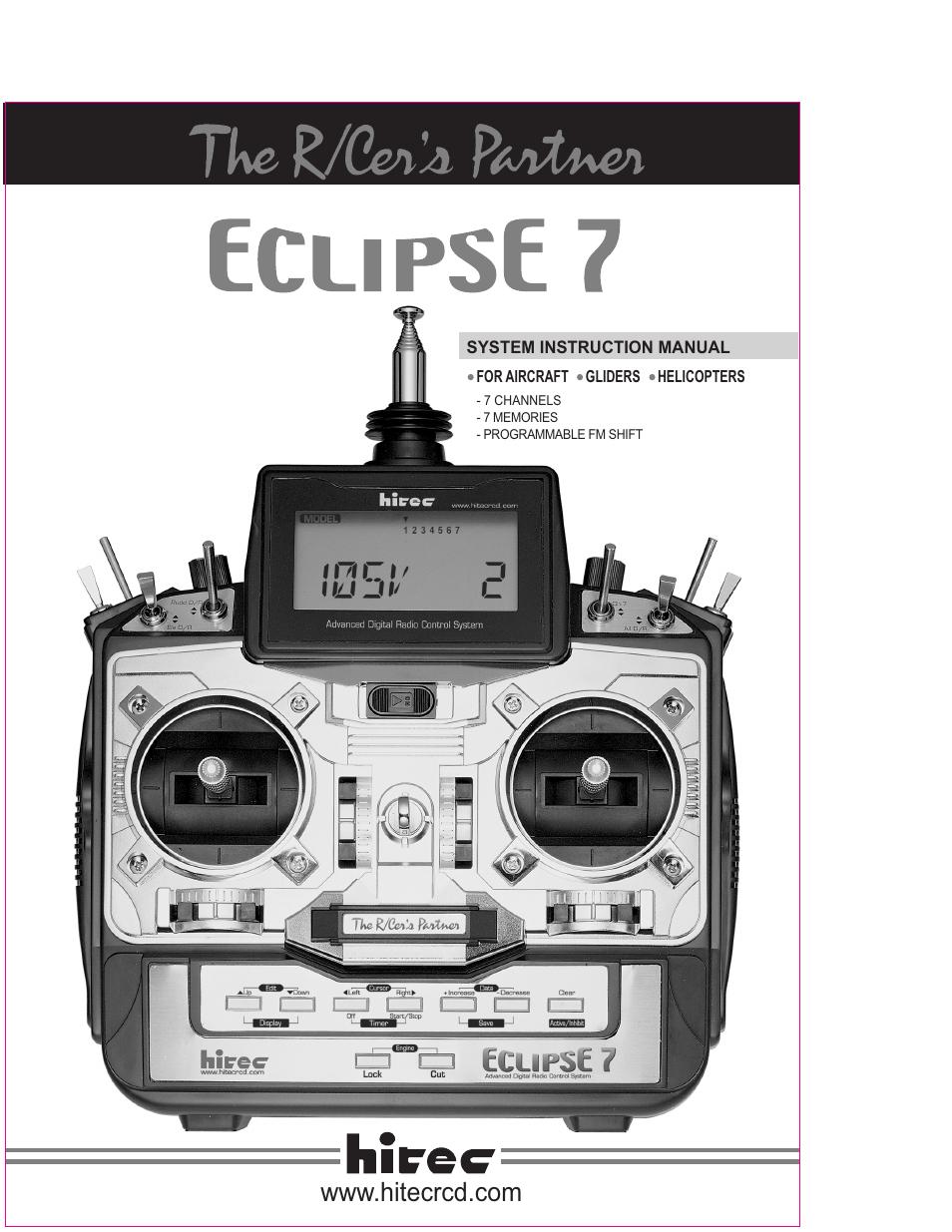 Hitec eclipse 7 инструкция
