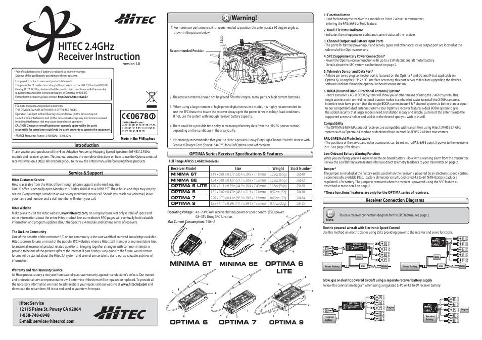 hitec minima 6t page1 hitec minima 6t user manual 2 pages also for minima 6s  at fashall.co