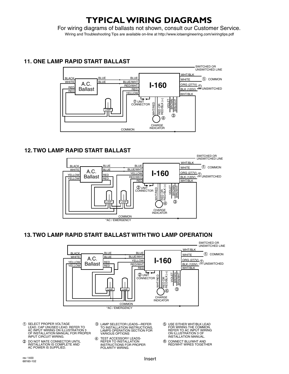 Typical Wiring Diagrams  I