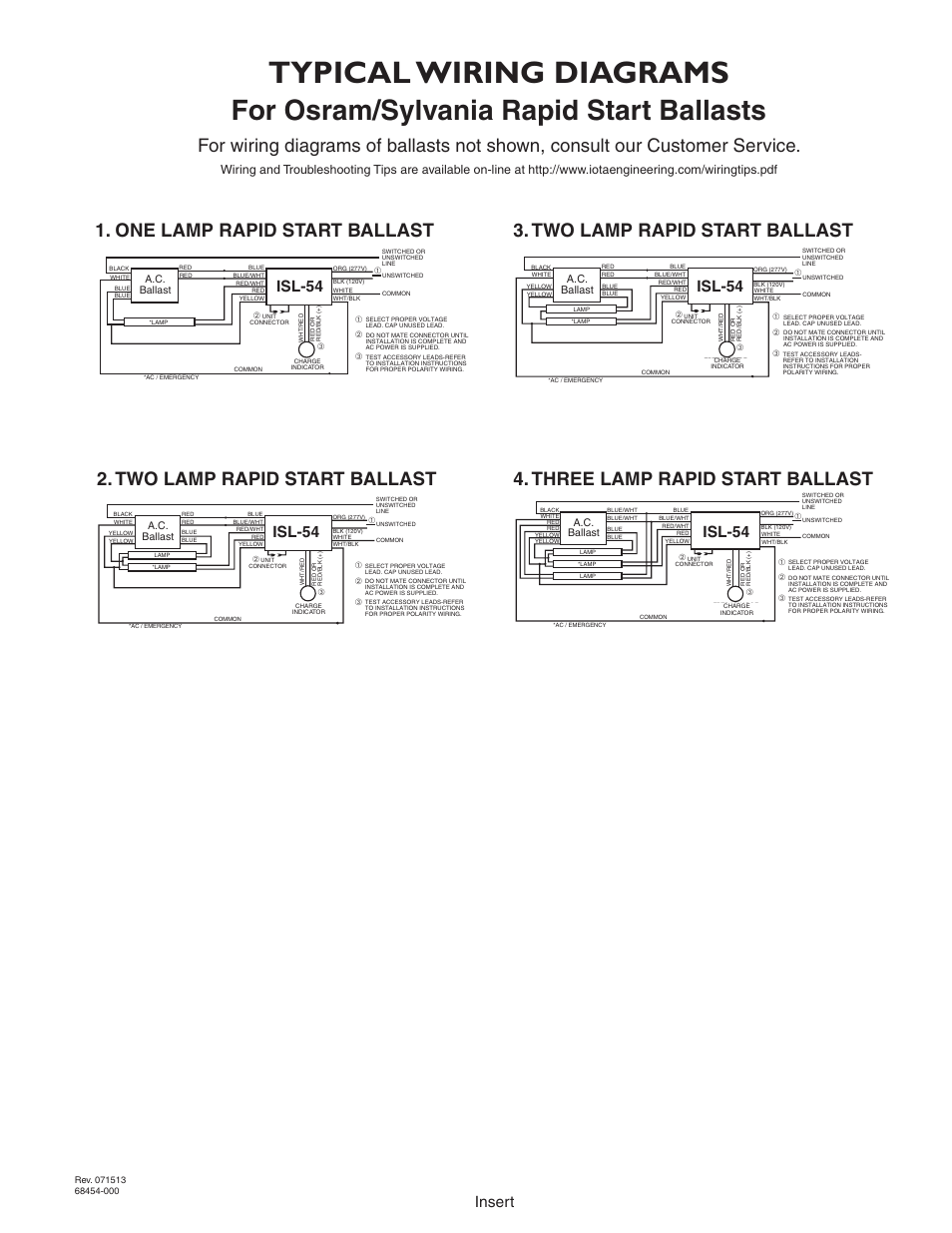 Typical Wiring Diagram 4 Lamp Ballast Explained Diagrams Isl 54 Emergency Residential Electrical 2