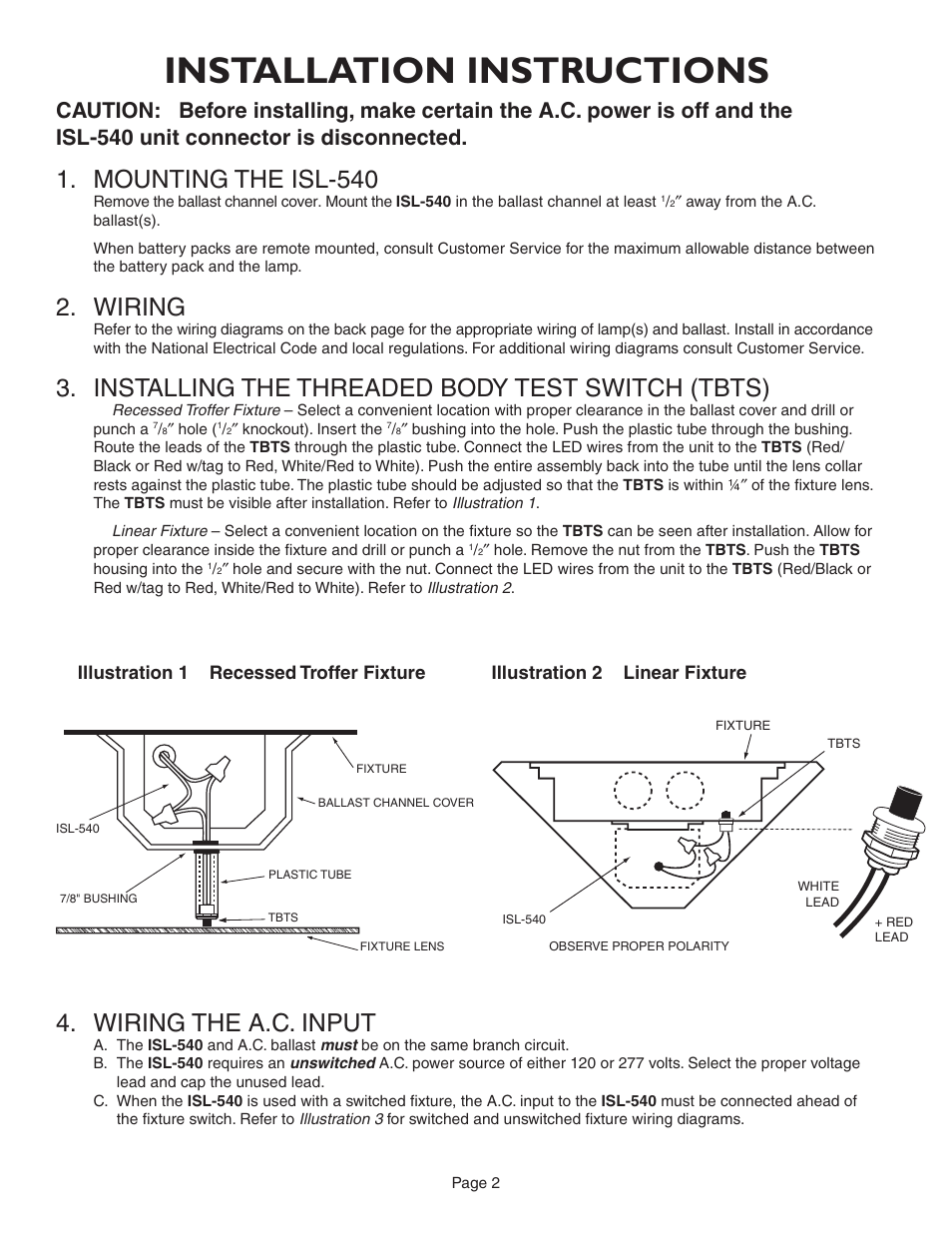installation instructions mounting the isl 540 wiring iota isl installation instructions mounting the isl 540 wiring iota isl 540 35w user manual page 2 5
