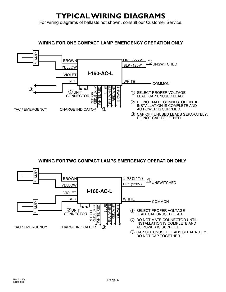 Typical Wiring Diagrams I 160 Ac L Iota User Manual Page 4