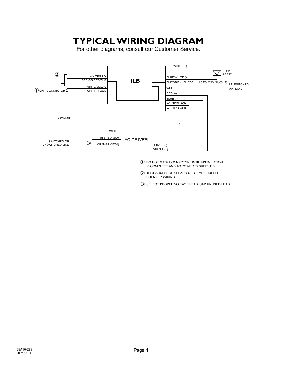 Typical Wiring Diagram  For Other Diagrams  Consult Our