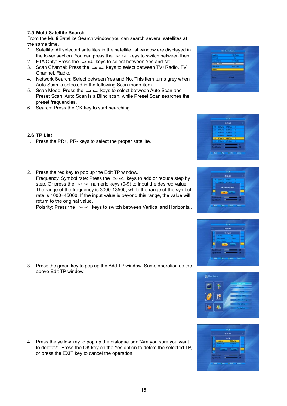 Multi Satellite Search Tp List Konig Electronic High Definition Dvb S2 Plug