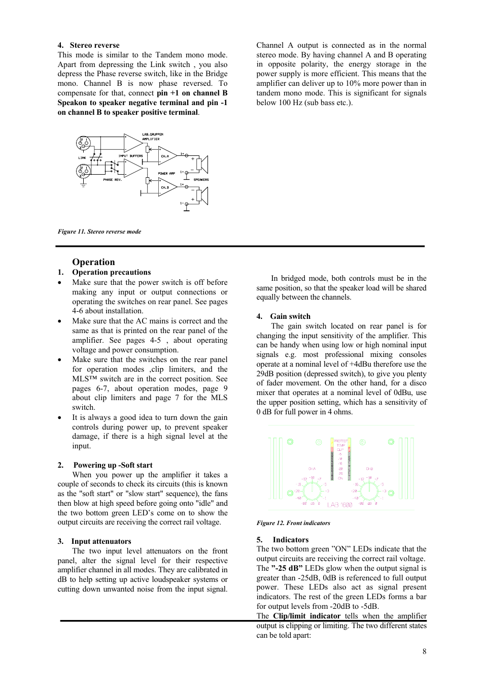 Lab gruppen LAB 1600 User Manual | Page 8 / 13