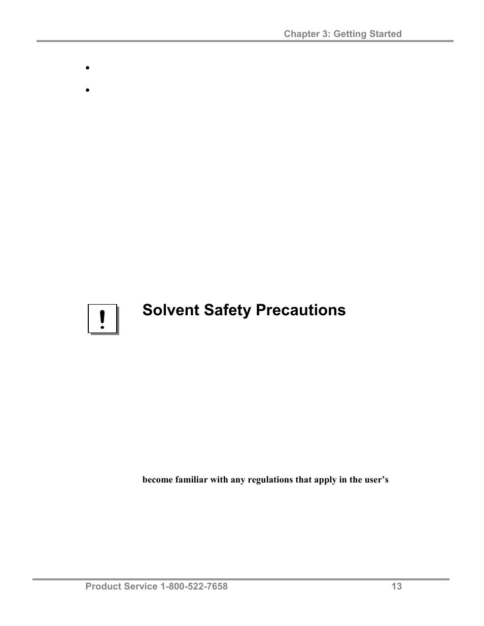Solvent safety precautions | Labconco FreeZone 4 5 Liter