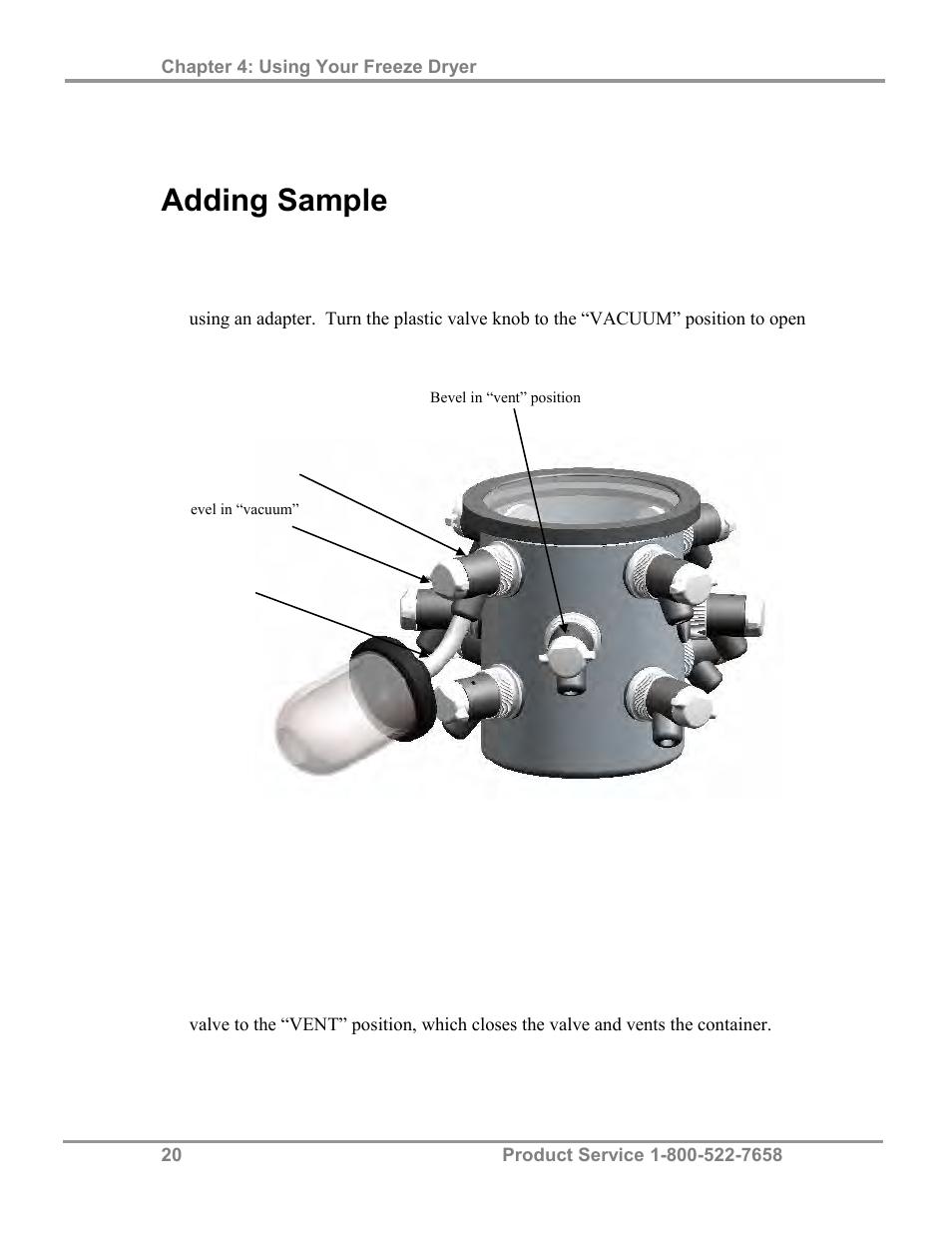 Adding sample | Labconco FreeZone 4 5 Liter Freeze Dry
