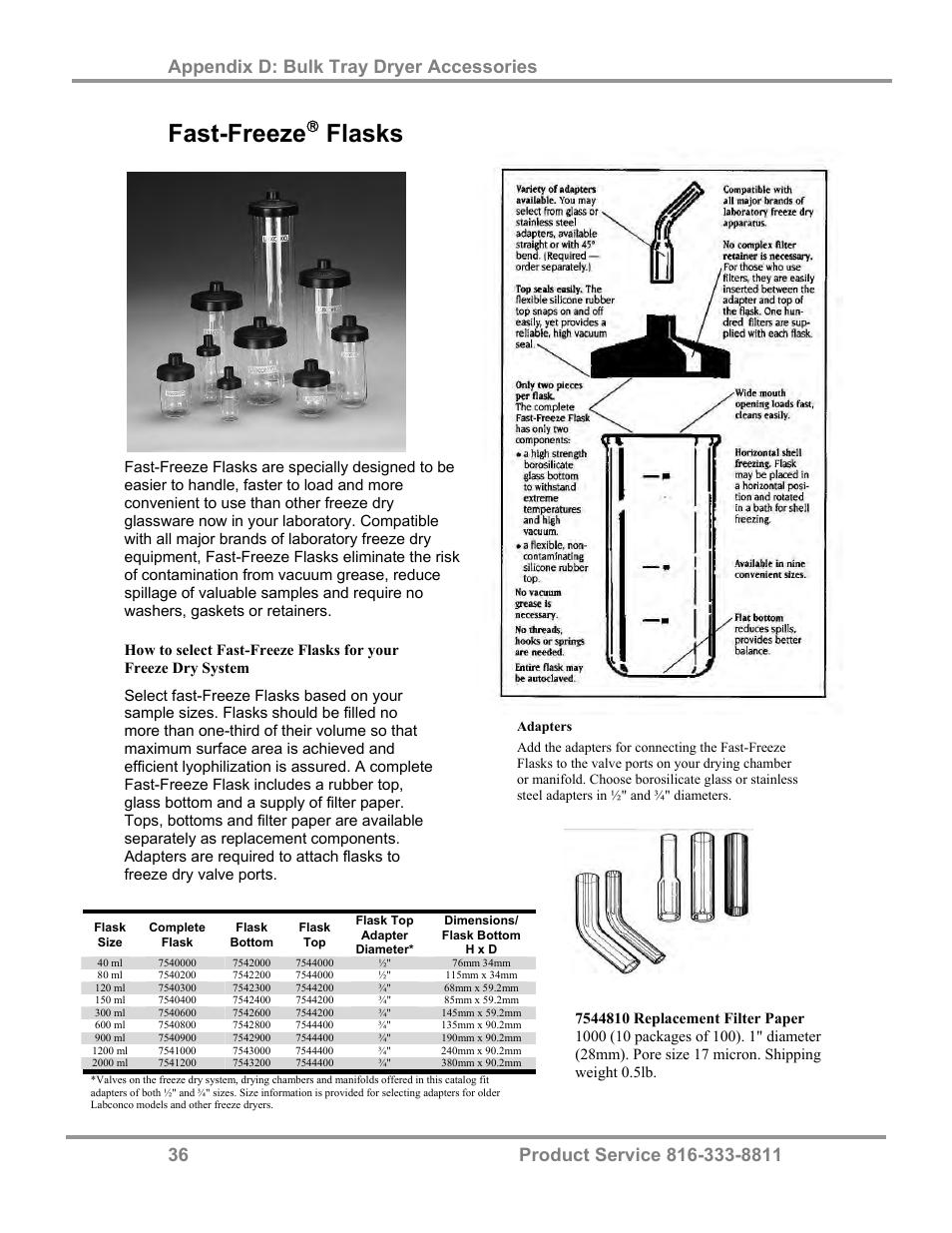 Fast-freeze, Flasks | Labconco FreeZone Bulk Tray Dryer