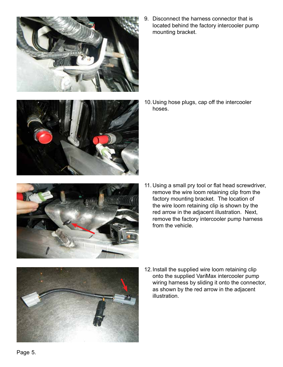 Lingenfelter L330030709 Ctsv High Flow Intercooler Pump Upgrade Kit Wiring Harness Clips Removal V10 User Manual Page 6 10