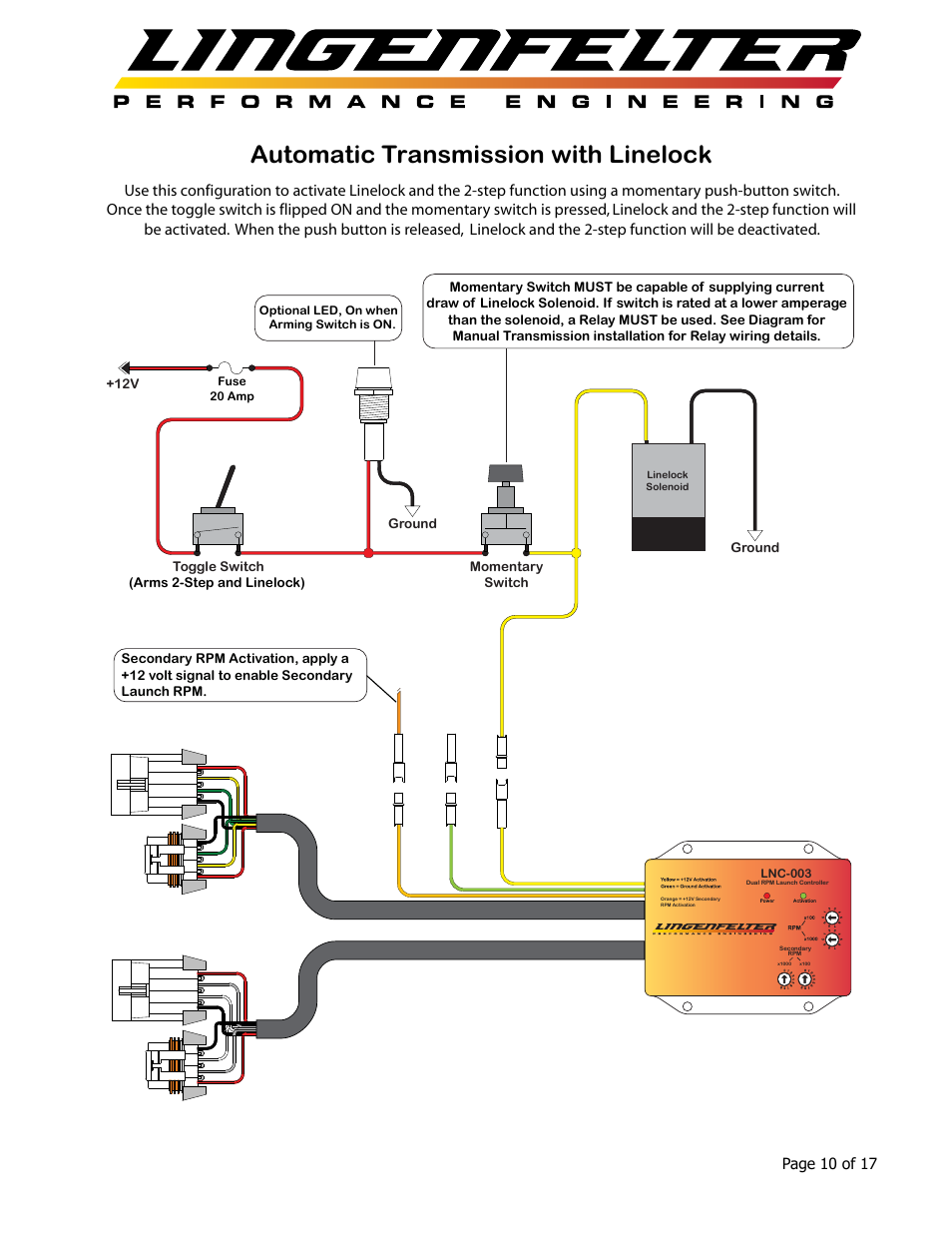 Automatic Transmission With Linelock