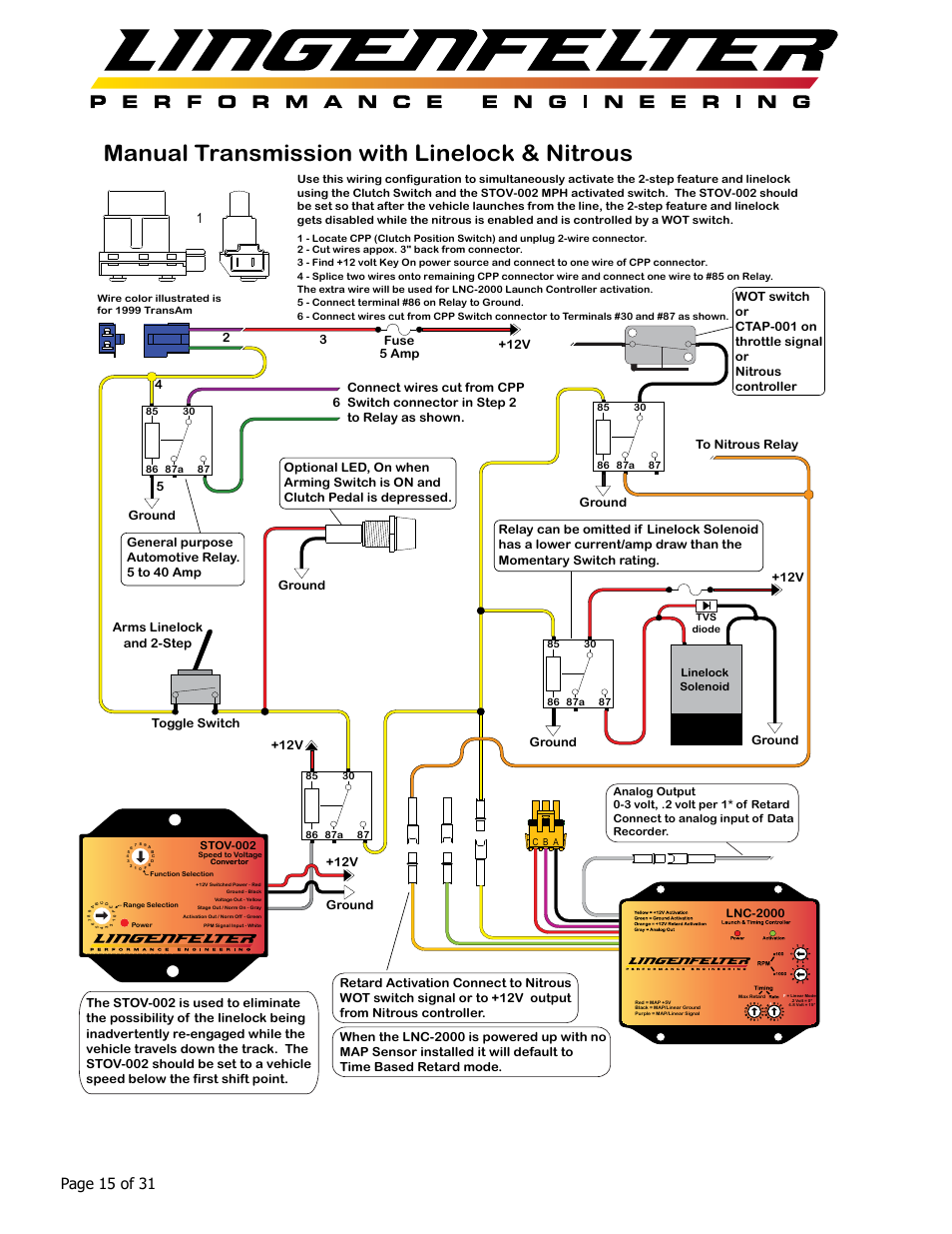 Nitrous Wiring Lnc 2000 Bookmark About Diagram System Manual Transmission With Linelock Page 15 Of 31 12v Fuse Rh Manualsdir Com Just For Purge Basic