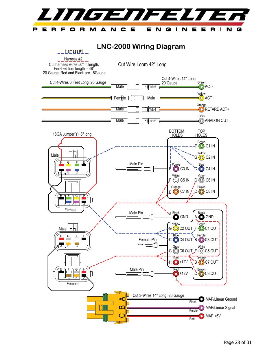 Ab c  Lnc2000    wiring       diagram     Cut wire loom 42  long
