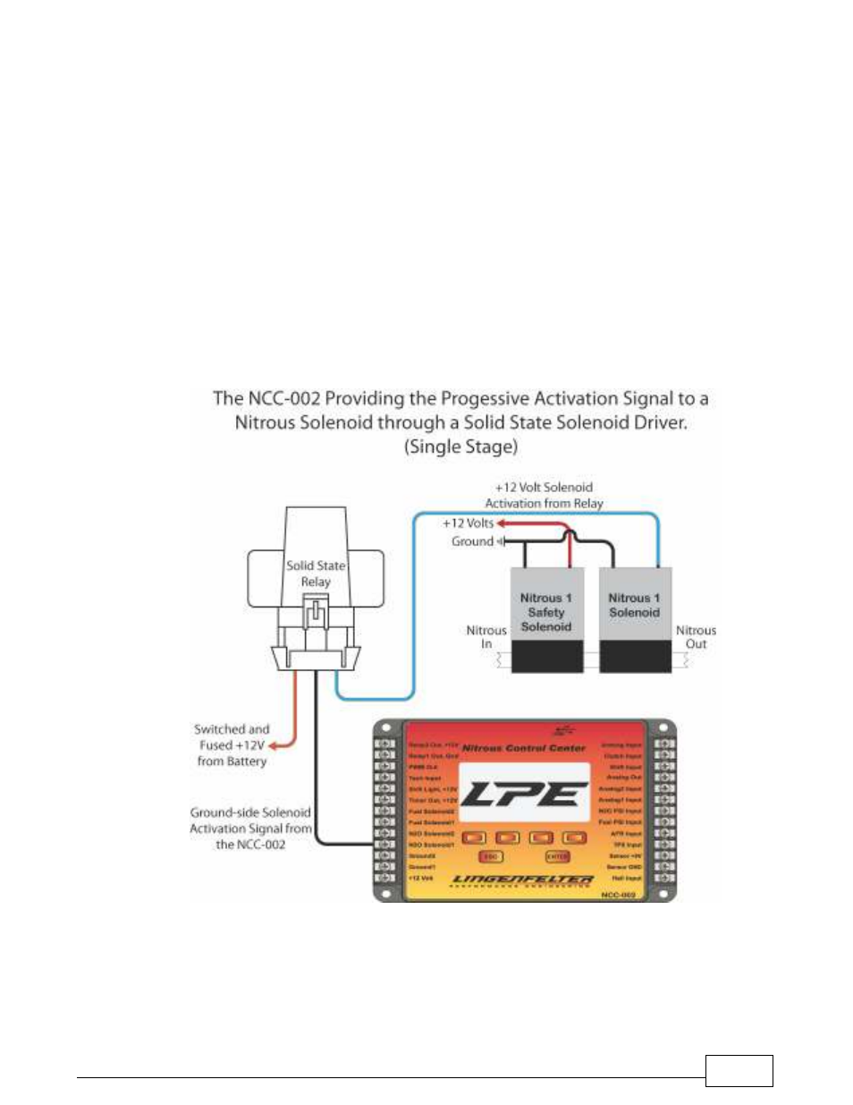 Nitrous Relay Wiring Diagram Nos Lingenfelter L460240000 Ncc 002 Control Center V15 User Manual Page