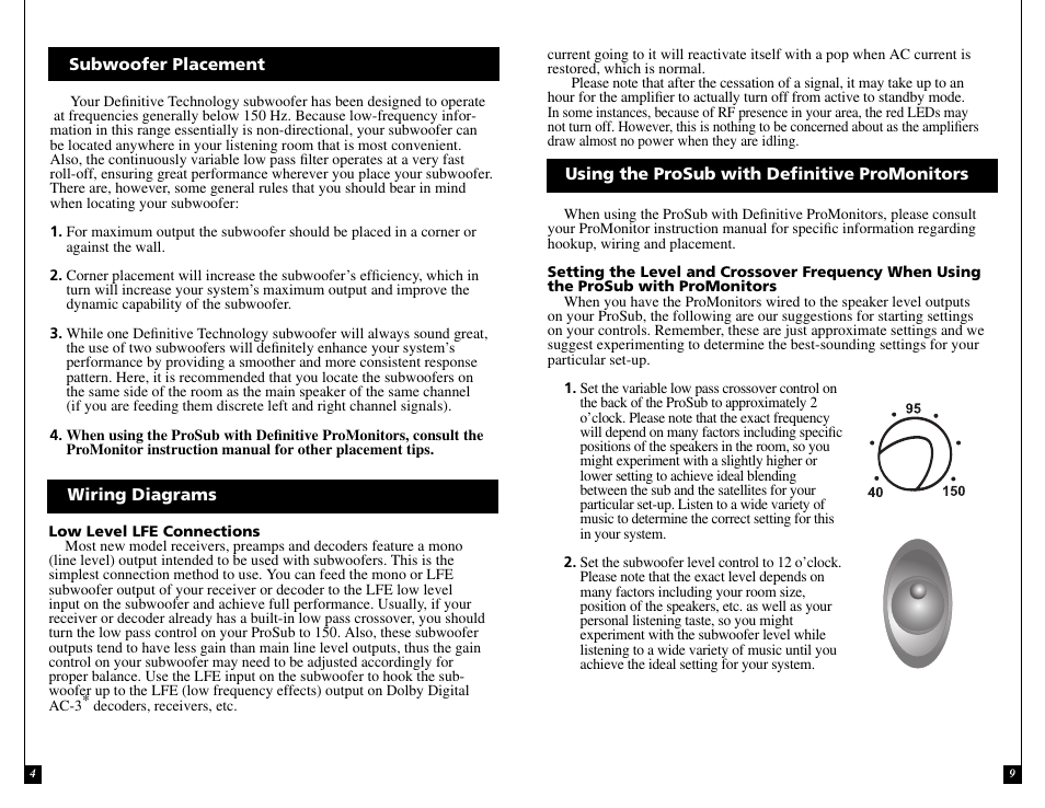 definitive technology prosub 800 1000 user manual page 4 12Definitive Technology Wiring Diagram #14