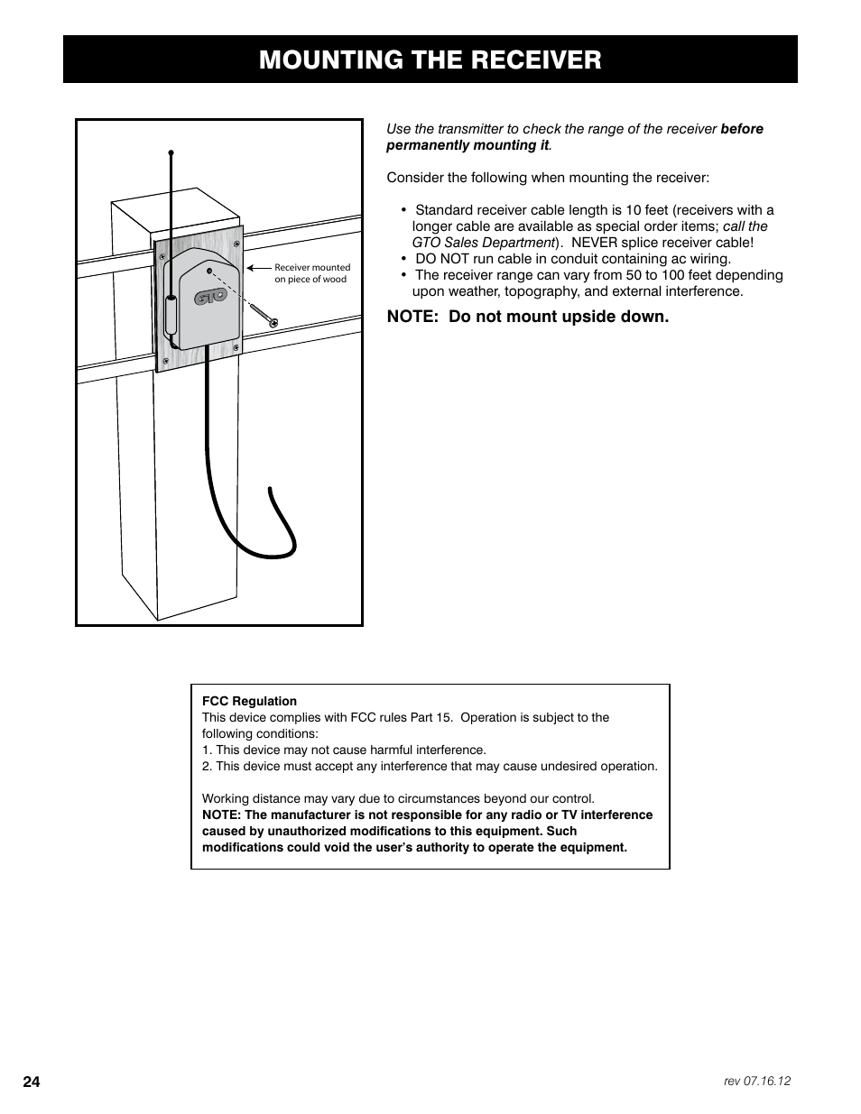 Fm 350 Wiring Diagram Schematics Engine Mounting The Receiver Mighty Mule Fm350 User Manual Page 28 44 Chevy