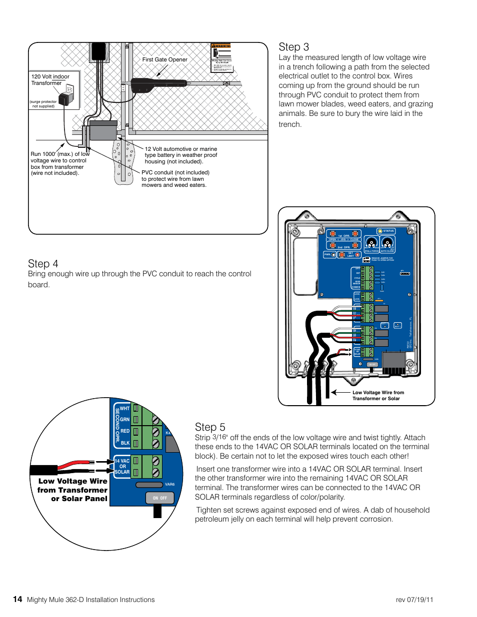 Step 3 4 5 Mighty Mule Mm362 D User Manual Page 24 36 Wiring Diagram