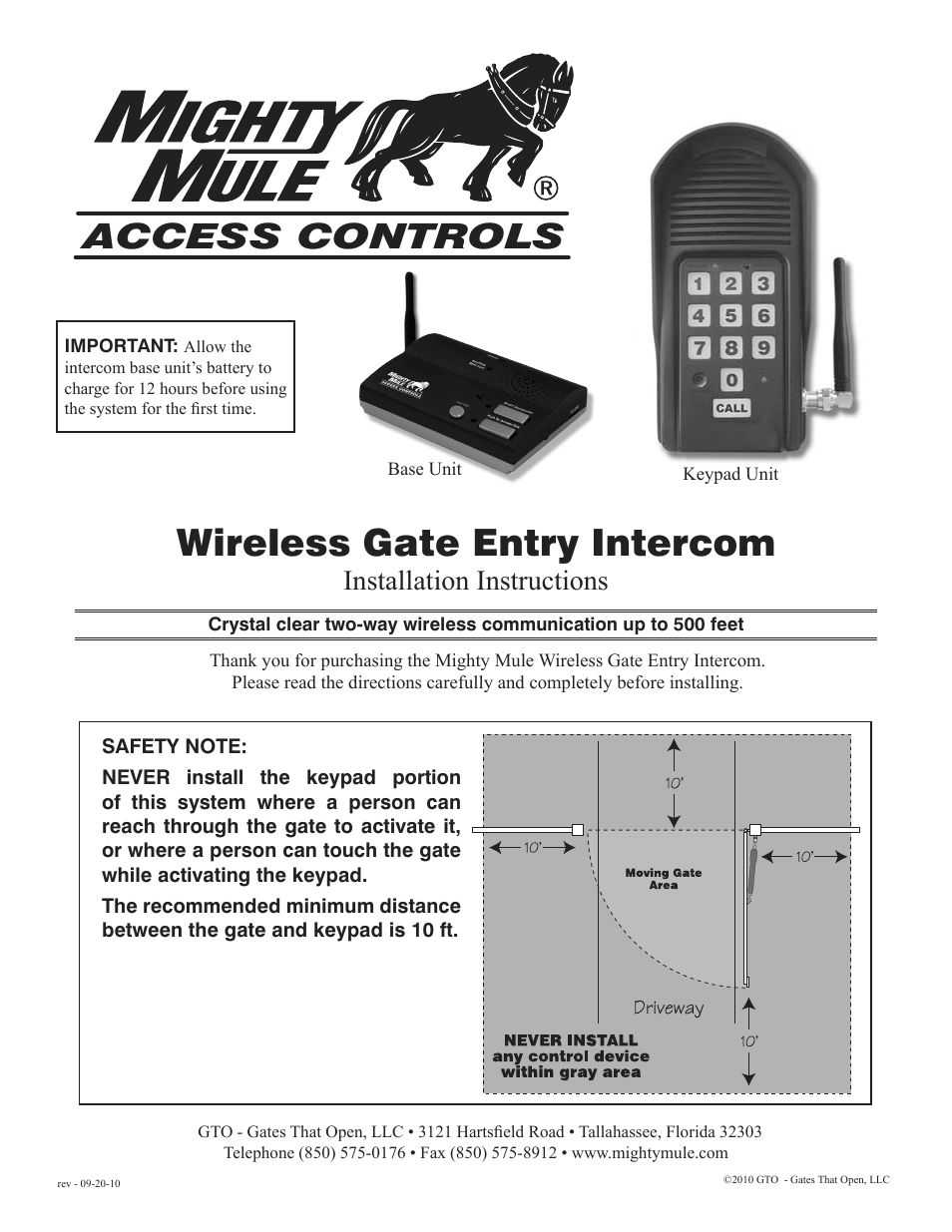 Mighty Mule Fm136 User Manual 8 Pages