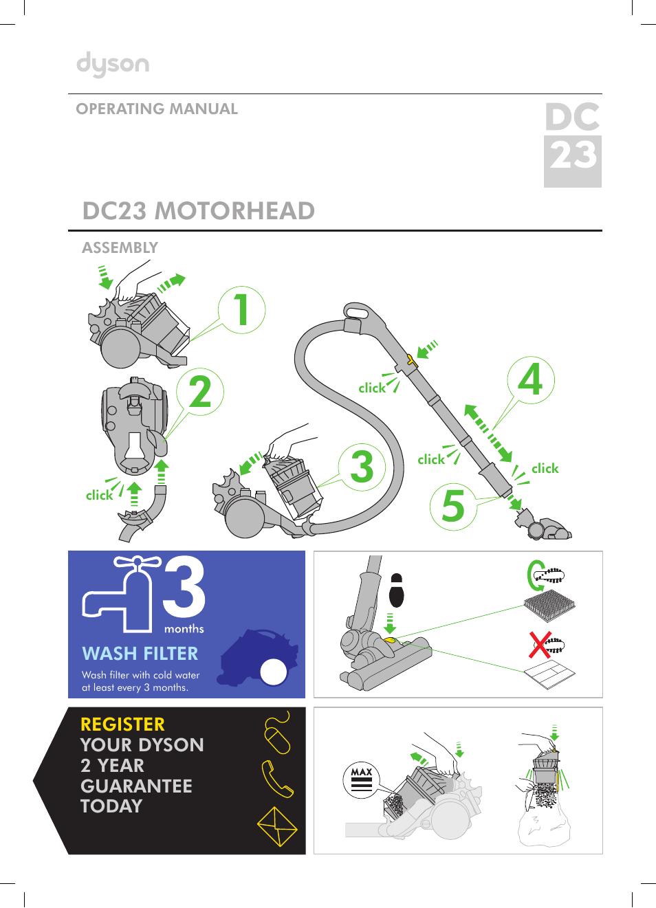 dyson dc23 user manual 12 pages rh manualsdir com Dyson Vacuum Cleaner User Manual Dyson Vacuum Cleaner User Manual