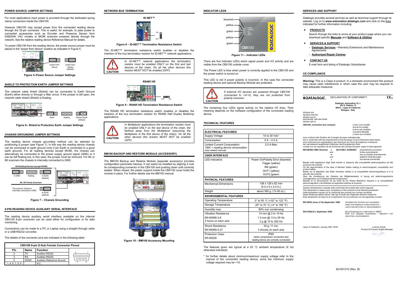 Datalogic Scanning Connection Box Cbx100 User Manual