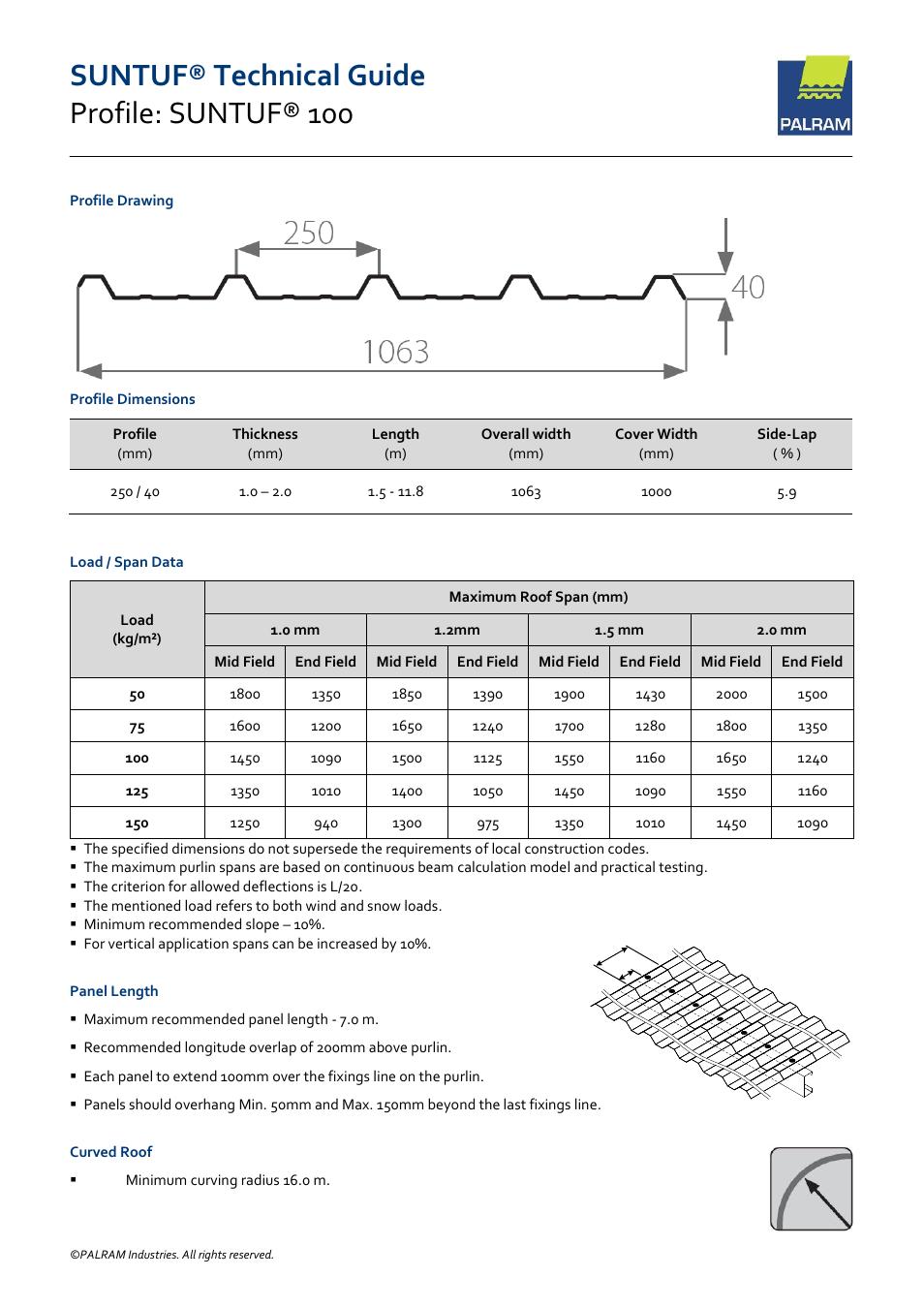 Palram SUNTU Rooflights User Manual | 3 pages