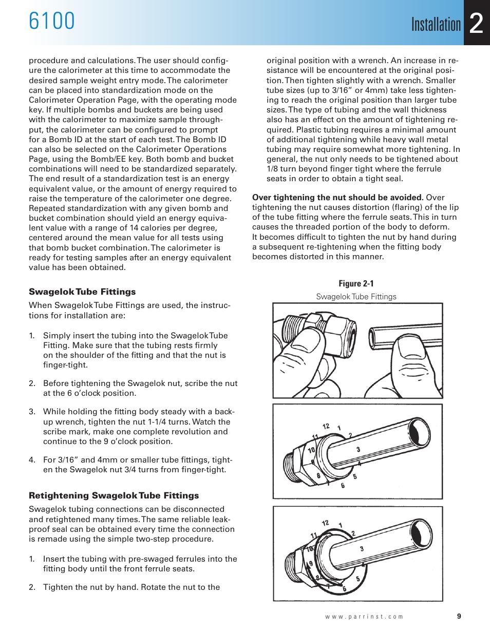 Swagelok tube fittings, retightening swagelok tube fittings.