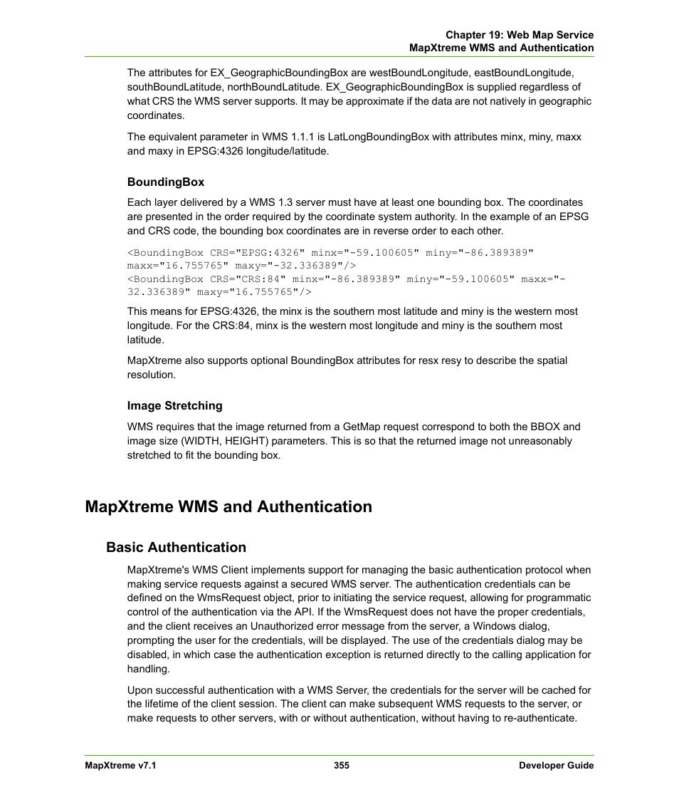 Mapxtreme wms and authentication, Basic authentication
