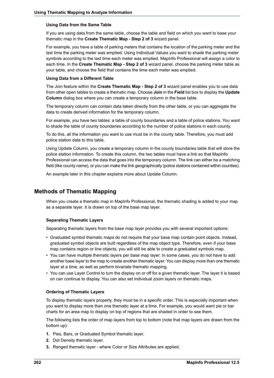 Methods of thematic mapping pitney bowes mapinfo professional methods of thematic mapping pitney bowes mapinfo professional user manual page 262 540 biocorpaavc Images