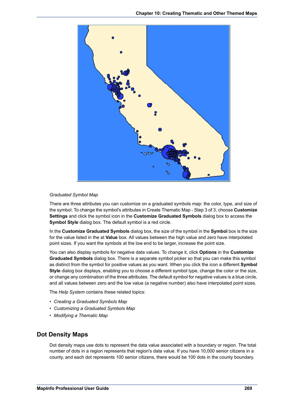 Dot Density Maps Pitney Bowes Mapinfo Professional User Manual