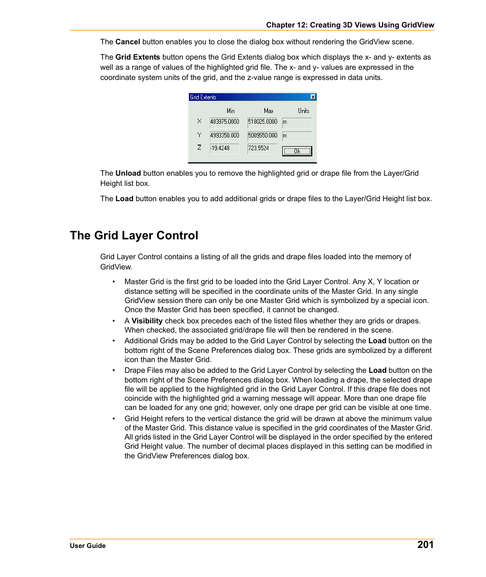 The grid layer control | Pitney Bowes MapInfo Vertical Mapper User