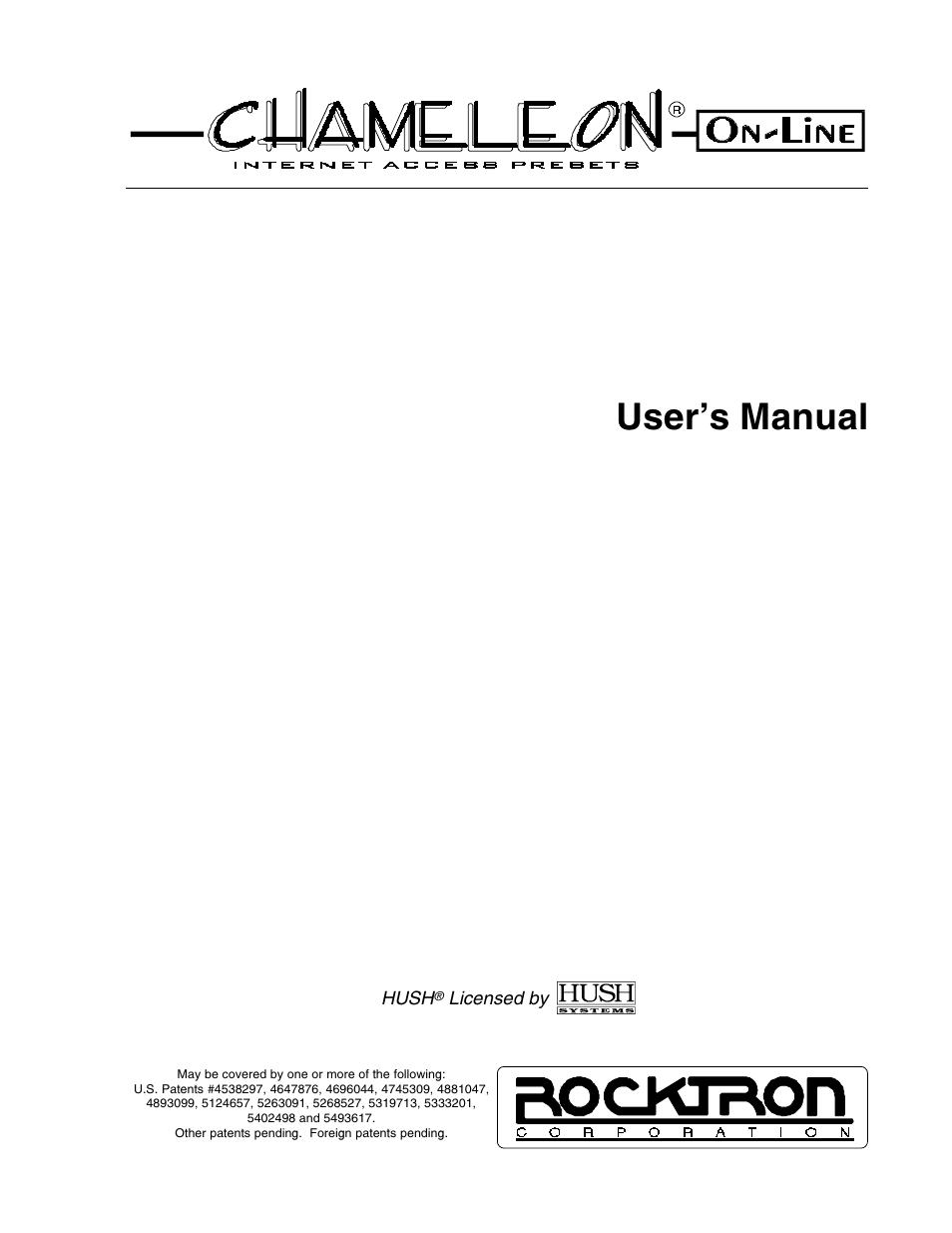 rocktron chameleon on line user manual 103 pages rh manualsdir com Rocktron Replifex rocktron chameleon manual pdf