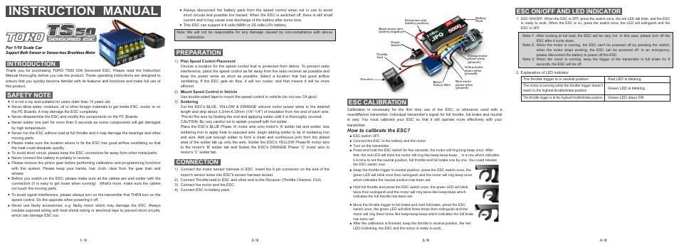 Toro TS50 Sensored ESC Remote & App Controlled Vehicles & Parts ...