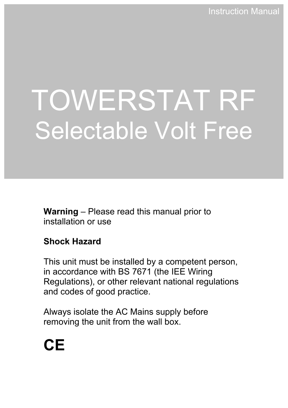 Tfc Group Sttr F User Manual 19 Pages Bs7671 Wiring Regulations