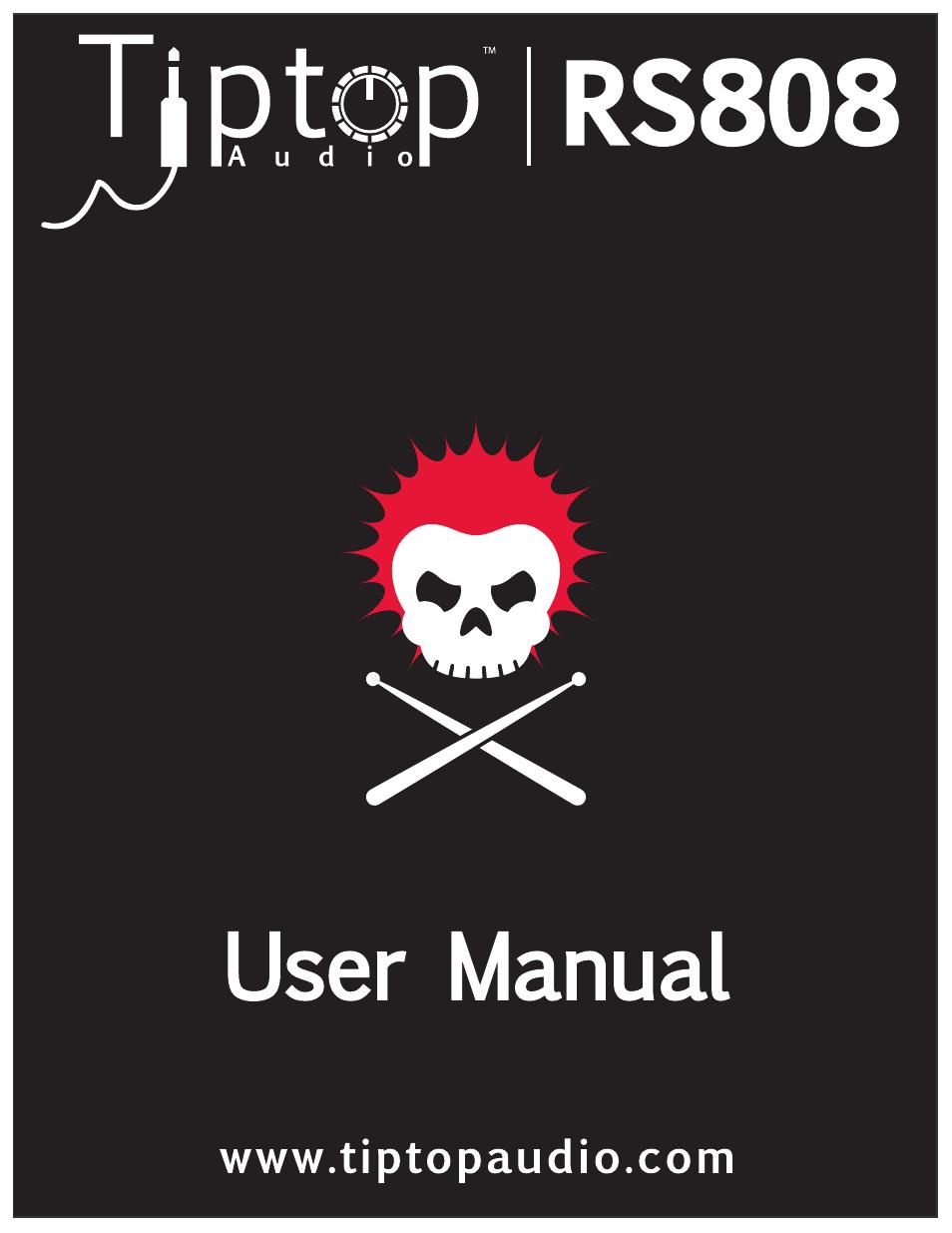 Tiptop RS808 Rimshot Claves User Manual