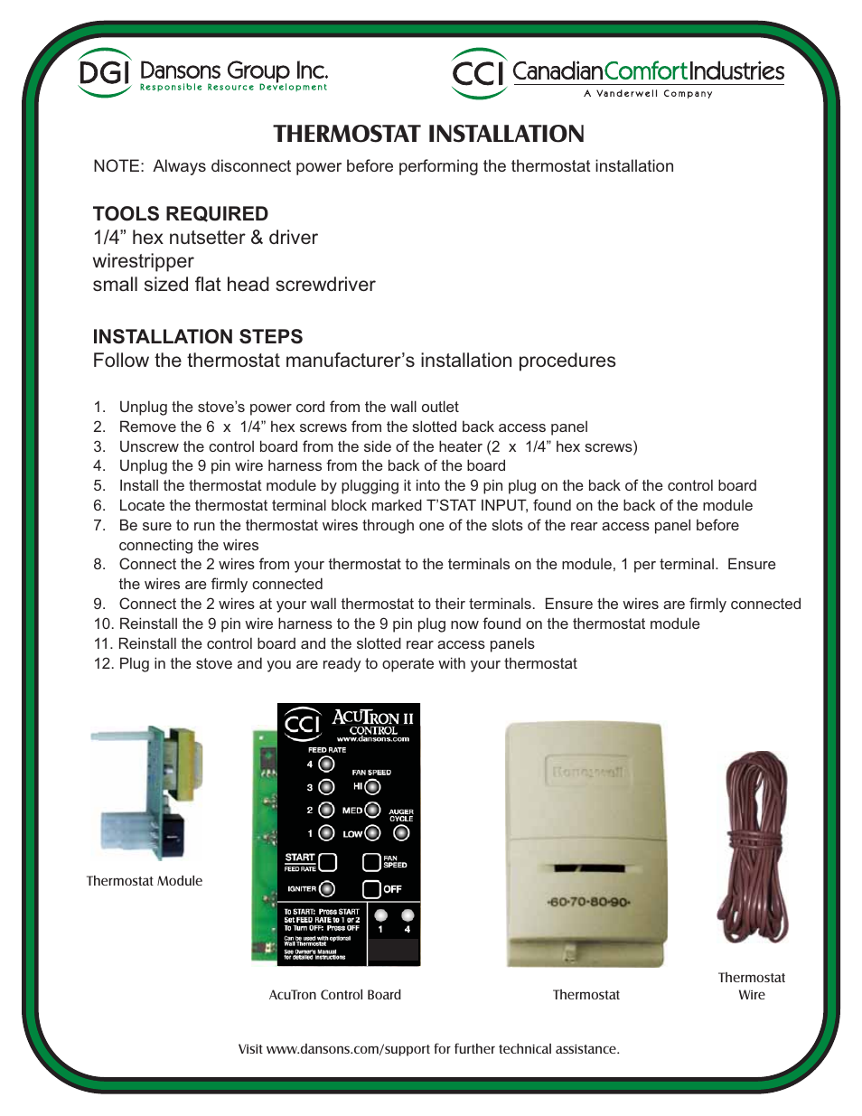 Dansons Group Wire User Manual 2 Pages Also For