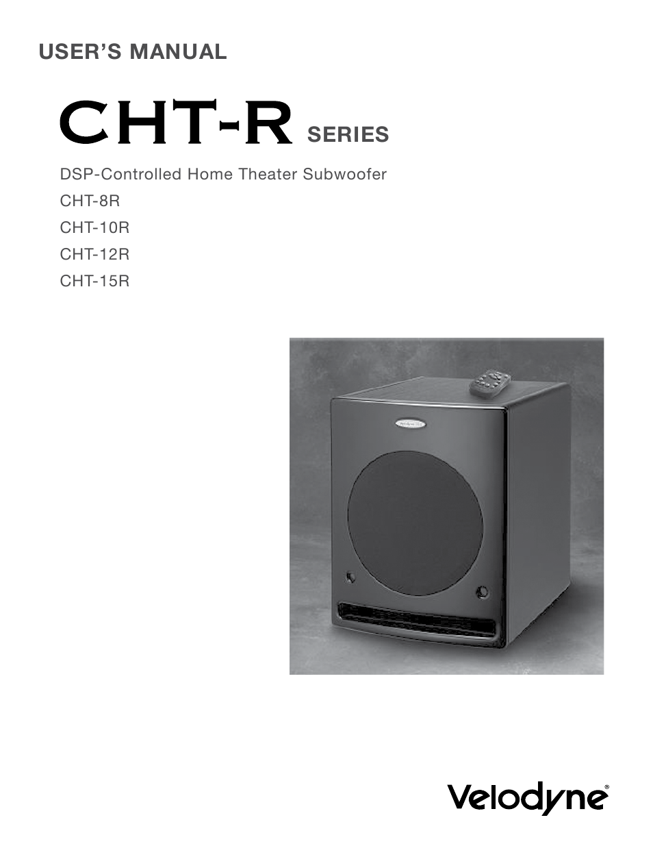 velodyne cht r series user manual 24 pages rh manualsdir com