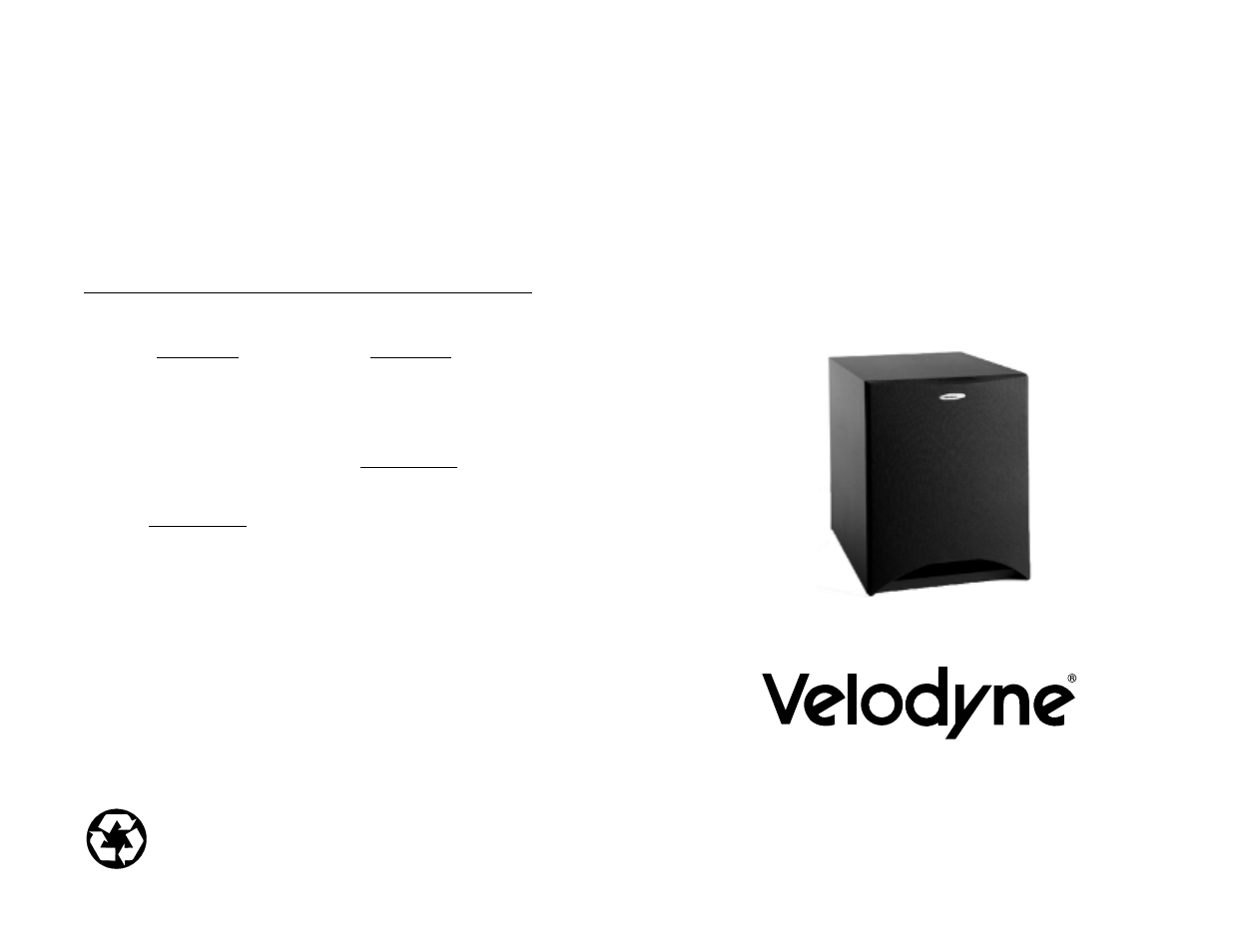 Velodyne DLS-4000 User Manual | 6 pages | Also for: DLS-3750