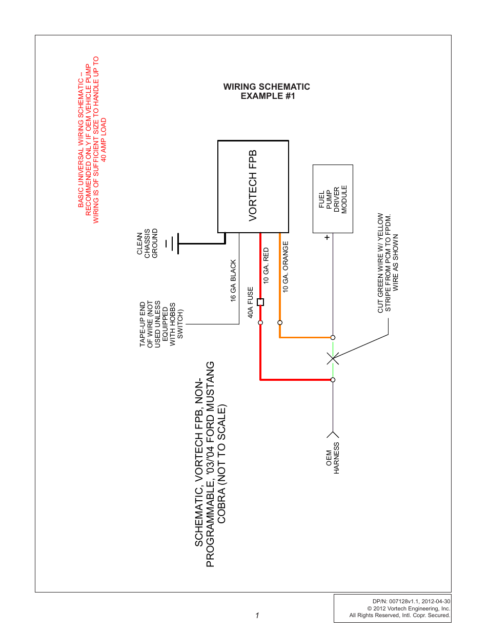 Vortech Maxflo Fuel Pump Booster Fpb Universal Fit User Manual Wiring Diagram Page 7 13