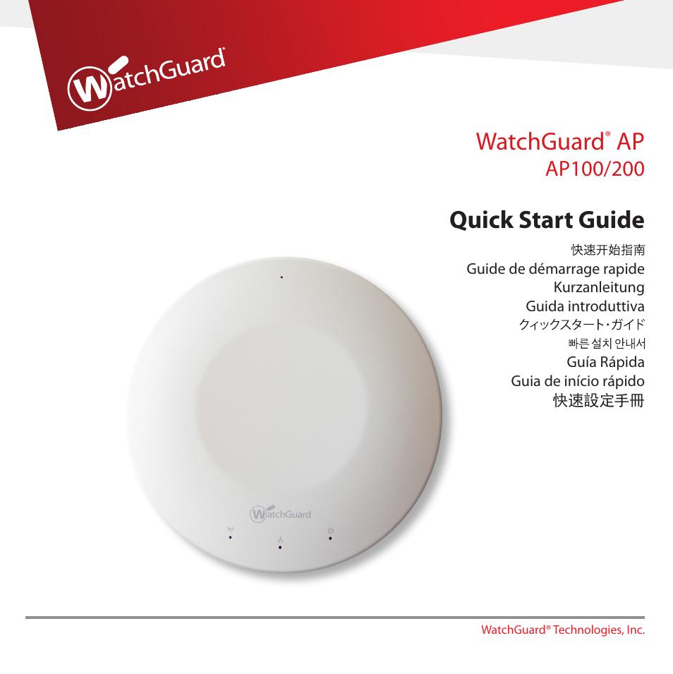 Watchguard Ap200 User Manual