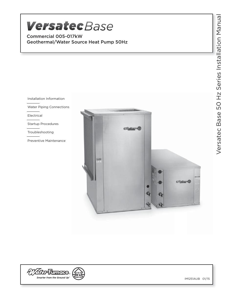 Waterfurnace Versatec Base User Manual 55 Pages Wiring Diagram