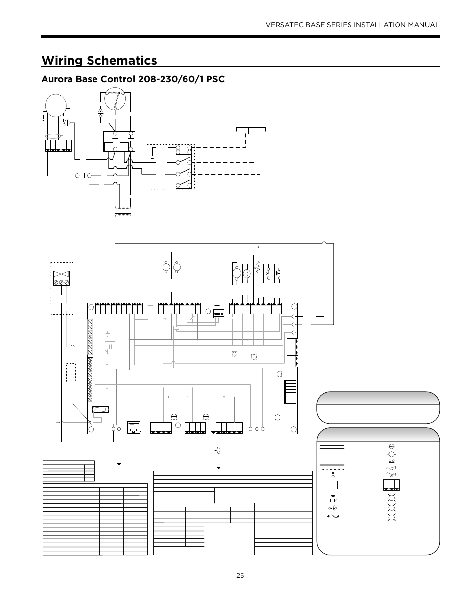 wiring schematics  versatec base series installation