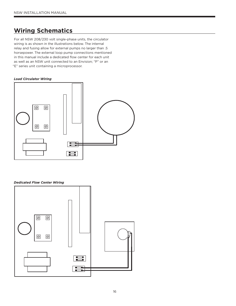 Waterfurnace Wiring Diagram And Schematics Diagrams Water Furnace Thermostat Data Source Control Box Load Circulator Pump Envision Hydronic Nsw User